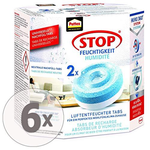 Gardopia Sparpaket: PATTEX Nachfüller Tabs für Luftentfeuchter Aero 360° (2 x 450 g), 6 Stück