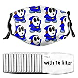 Blue ShyGuy Mask with Replaceable Filter Reusable Washable Face Covering