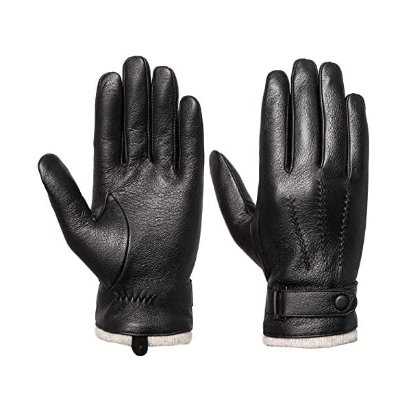 Acdyion Touchscreen Men's Genuine Leather Gloves 1