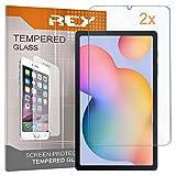 REY 2X Protector de Pantalla para Samsung Galaxy Tab S6 Lite 10.4', Cristal Vidrio Templado Premium, Táblet