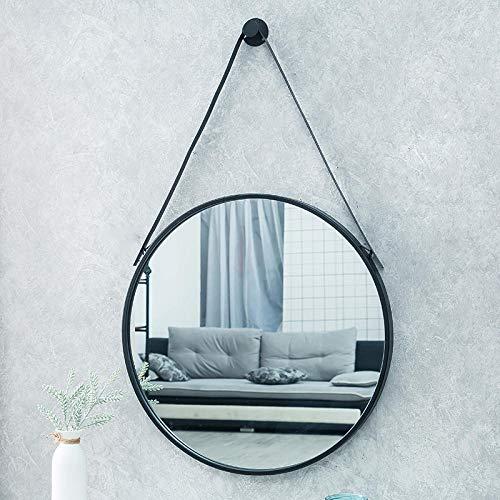 YBGW Wandspiegel Deko Groß Badezimmerspiegel Wandbehang Toilettenspiegel Einfache Runde Schminkspiegel Hängen Kosmetikspiegel Wanddekoration Spiegel