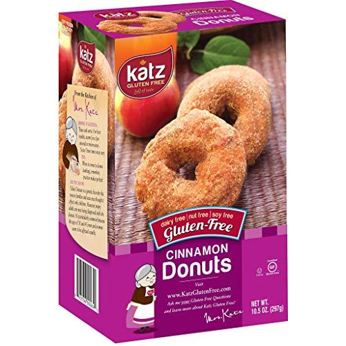 Katz Gluten Free Cinnamon Donuts | Dairy Free, Nut Free, Soy Free, Gluten Free | Kosher (1 Pack of 6 Donuts, 10.5 Ounce)