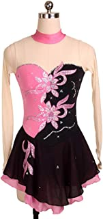 カスタマイズされた子供の大人のフィギュアスケートの服装の性能の衣服の競争の等級のスカート,4,AdultsSize:XXL