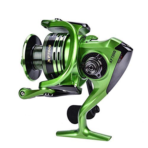 Carrete Spinning, Carrete de Pesca Ligero y portátil Carrete de Pescar Spinning Salt Freshwater Metal Heavy Duty Ligero Casting Spinning Fishing Reel Tackle Accesorio(# 1000)