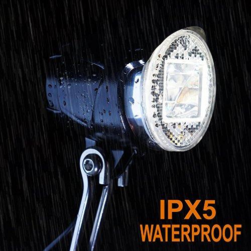 toptrek Fahrradlicht Vorne StVZO zugelassen (K~1119) Retro Fahrradlampe Nabendynamo 6V~48V Fahrrad Scheinwerfer Dynamo Led Fahrradbeleuchtung IPX5 Wasserdicht - 6