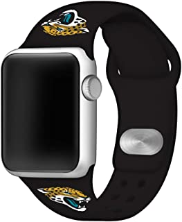 Game Time Jacksonville Jaguars Silicone Sport Band Compatible with Apple Watch - Band ONLY (42mm/44mm)