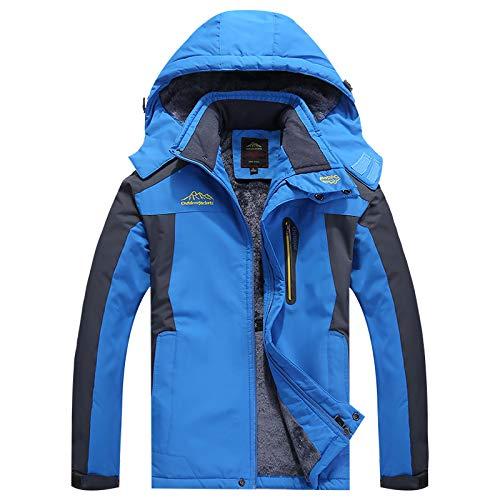 Bergjack voor heren, wollen jas, outdoorjas, waterdicht, winddicht, ski-jack, wandelhoed, afneembare hoed, meerdere zakken