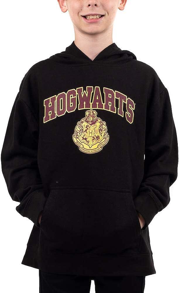 Harry Potter Hogwarts Crest Super-cheap Youth Sweatshirt Hooded Black Boys OFFer