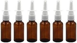 6PCS 30ML Empty Brown Glass Sprayer Nasal Bottle Empty Travel Refillable Aromatherapy Perfume Bottles for Nasal Irrigation Spray Medical Saline Water Applications