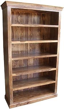 Classic Evergreen Sheesham Large Open Bookcase Handmade Handicraft ( Made to Order)