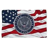 U.S. Navy Flag Seal Fleece Throw Blanket (36'x58')