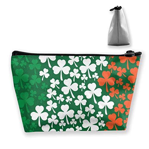 Saint Patricks Day Design irische Flagge Trapez Reise Kosmetik Aufbewahrungsbeutel Clutch Bag