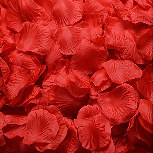 Haobase - 1000 pétalos de rosa de seda roja