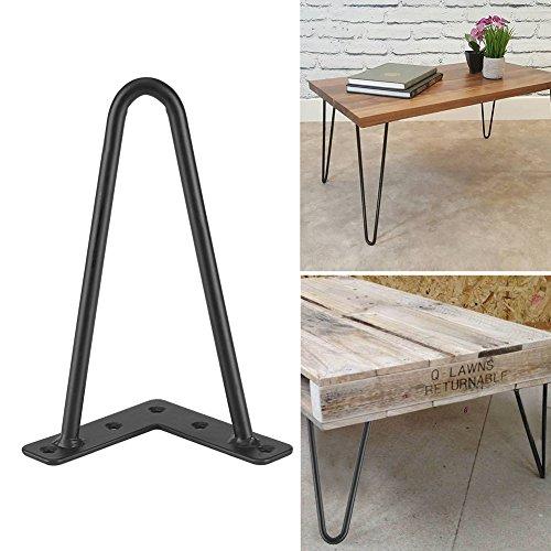 Patas de escritorio de mesa 4Pcs,patas de muebles de hierro negro,Patas de la Mesa de Hierro para Muebles Artesanales DIY Con Tornillos para colocar en el comedor, sala de estar(8 pulgadas)