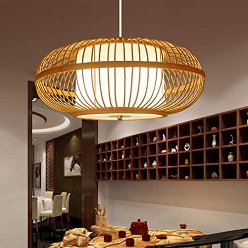 E27 Lámpara Colgante De Bambú Lámpara Colgante De Ratán Lámpara De Techo De Estilo Retro Lámparas De Techo De Sala De Estar Lámpara Colgante De Mimbre De Estilo Japonés Dormitorio Comedor Luces Colg