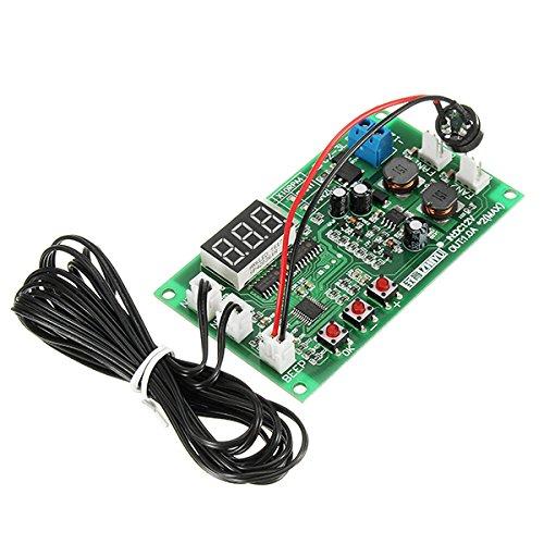 Ils - zhiyu DC 12V 2 Vías 3 Controlador de Temperatura de Cable de Ventilador Inteligente con Velocidad de Visualización de Temperatura Digital Stop-Rotación Función de Alarma