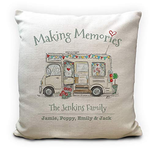 Personalised Motorhome Mobile Home Camping Cushion Pillow Cover - Wedding...