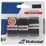 Babolat(バボラ) 硬式テニス バドミントン グリップテープ VS GRIP X3 (3本入り) BA653040 ブラツク(081)