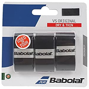 Babolat VS Original Overgrip (3 Per Pack), Black, One Size