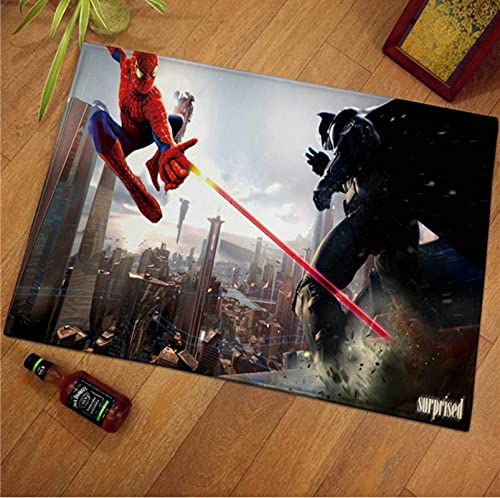 LGXINGLIyidian Alfombra Alfombra Antideslizante Marvel Superhero Iron Man Spiderman Capitán América Dormitorio Sala De Estar Alfombra M-1183A 180X200Cm