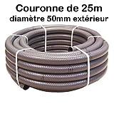 Couronne 25m Tuyau Piscine PVC Pression Souple Semi-Rigide à coller diamètre 50mm extérieur