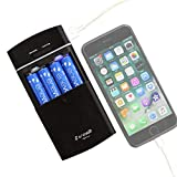 Enevolt USB Battery Charger for AA AAA Rechargeable Batteries and Battery Operated Portable Power...