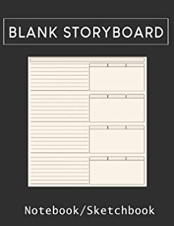 Storyboard Notebook/Sketchbook: Blank Storyboard Sketchbook |Template Panel Pages for Storytelling & Layouts with 16:9 Sto...