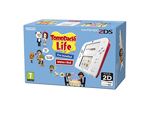Nintendo Handheld Console - White/Red with Pre-installed Tomodachi Life (Nintendo 2DS/3DS)