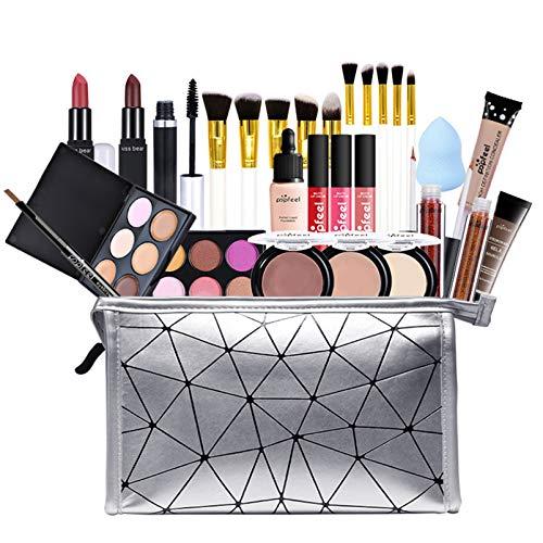 Pure Vie Kit de maquillaje multiusos Paleta de Maquillaje Set Paleta de Sombras de Ojos Juego de Maquillaje Kit de Maquillaje para Mujeres y Niñas Caja de Regalo Cosméticos #082