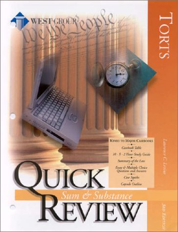 Sum and Substance Quick Review on Torts (Sum & Substance Quick Review)