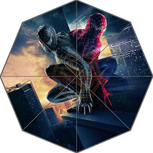 NJSDDB paraplu Aangepaste Geweldige Spider Man Volwassenen Universeel Ontwerp Mode Opvouwbare Paraplu Goede Gift Idea! U30-55, Kleur: wit
