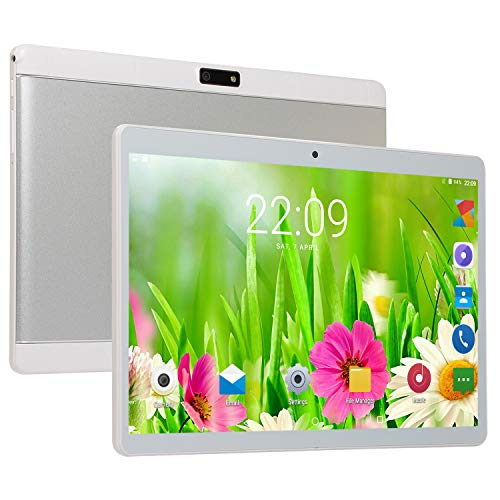 FJYDM Tablet 10.1 Inch Tablet with 1GB+16GB, 3G Phone Tablets & Dual Sim Card & 2MP+ 2MP Dual Camera, Quad Core Processor, 1280X800 IPS Display,White