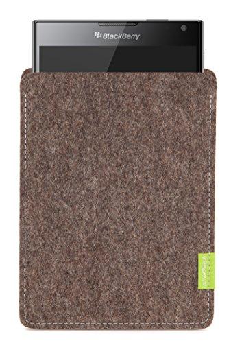 WildTech Sleeve für BlackBerry Passport Hülle Tasche - 17 Farben (Handmade in Germany) - Natur-Meliert