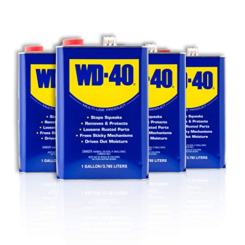 WD-40 - 490118 Multi-Use Product, One Gallon [4-Pack]
