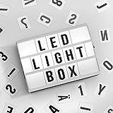 A6 Cinematic LED Lightbox Licht Nach oben Briefkasten Kino Schild Schreibtisch Top Message Board