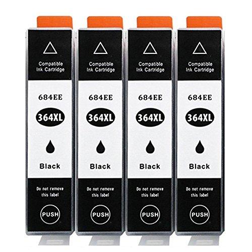 Befon di ricambio per HP 364 364 X L Cartucce di inchiostro con un nuovo chip e indicatore di livello compatibili per HP Photosmart (4 Nero)