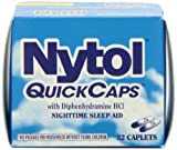 Nytol Nighttime Sleep Aid Quick Capsules, 32 Count (Pack of 3)