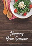 Planning Menu de la Semaine: Carnet pour noter vos menus hebdomadaire, organiser ses repas, planificateur, agenda, journal - 17,78cm x 25,4cm - 107 pages