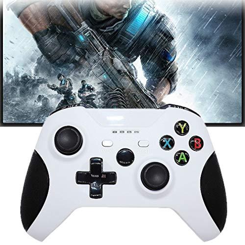 GRJKZYAM Gamepad Mejorado para Control Inalámbrico para Xbox One/One S/One X / PS3 / One Elite/Windows 10 | Gamepad Inalámbrico 2.4G con Doble Vibración, Blanco