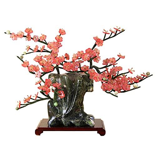 Decoración de plantas falsas Bonsai artificial creativo jade bonsai invierno ciruela flor maceta decoración bonsai para la tienda de oficina en casa decoración del gabinete de vino Árbol Bonsai Artifi