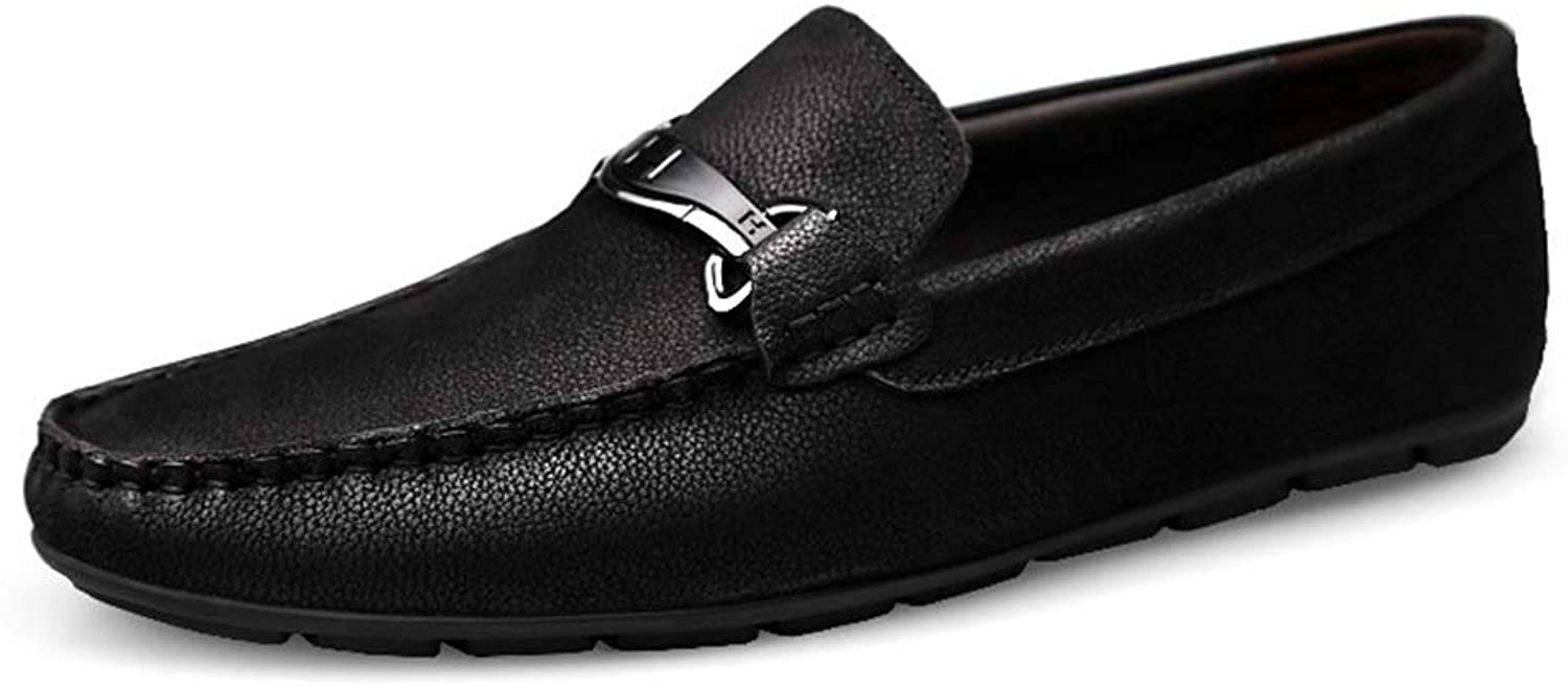 Lwen Men's Toe Layer Leather Casual Men's Single shoes Leather Casual shoes