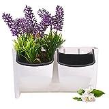 Mini maceta planta suspendida vertical jardinería apilable - jardinera maceta de flores soporte planta para verduras frutas exterior interior (color : blanco)