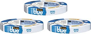 3M Scotch-Blue 2090 Safe-Release Crepe Paper Multi-Surfaces Painters Masking Tape, 27 lbs/in Tensile Strength, 60 yds Leng...
