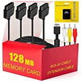 PS2 Accessories Bundle - 4 in 1 Essential Kit Including 128MB Memory Card + Audio Video RC...