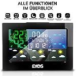 EYOS Station météo sans Fil avec capteur extérieur – Thermomètre numérique et hygromètre – pour intérieur/extérieur/Heure/humidité de l'air, Phases de Lune #1