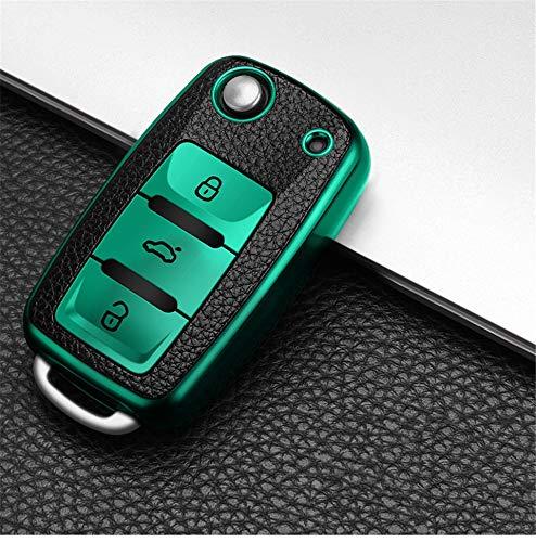 Caja de la Llave del Coche para Volkswagen VW magotan Polo Golf 4 3 6 5 6 mk6 Passat b5 b6 b8 b7 touran Bora Skoda Octavia Verde