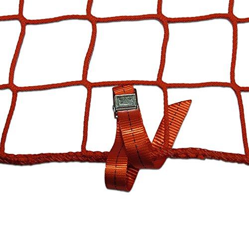 Seitenschutznetz Dachdeckerfangnetz mit angenähten GSV (2 x 10m, rot)