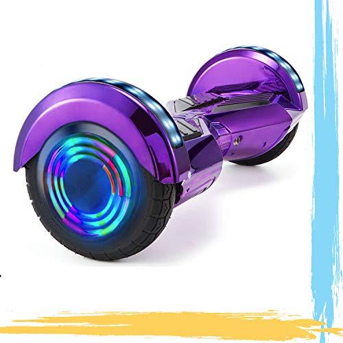 HappyBoard 8' Hoverboard Monopattini Elettrici Autobilanciati Motore 700 W Bluetooth per Bambini e Adulti (Viola Cromo)