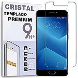 REY Protector de Pantalla para MEIZU M5 Note, Cristal Vidrio Templado Premium