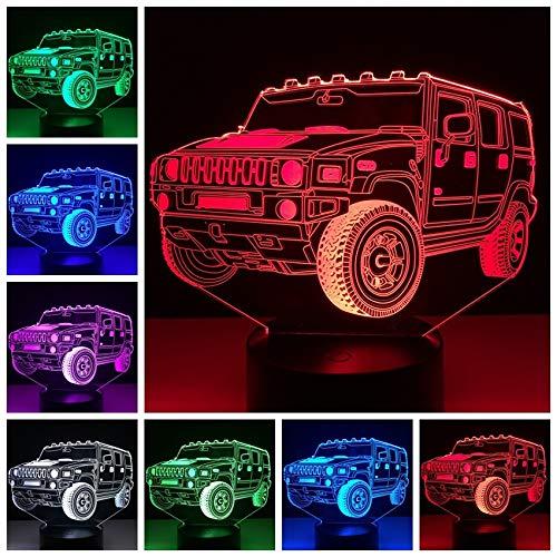 Jiushixw 3D acryl nachtlampje met afstandsbediening kleurverandering lamp doorschijnend veranderen 's nachts verjaardag vrienden antieke kleine tafellamp